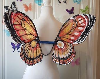 In Stock - M/L  Orange Butterfly Wings
