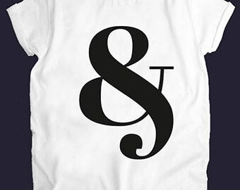 And (&) White Women Top T-shirt Tees Casual Street Style
