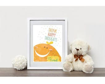 Think Happy Thoughts Little Ones Print