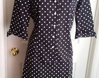 Polka Dot 2 Piece Suit, 80's era