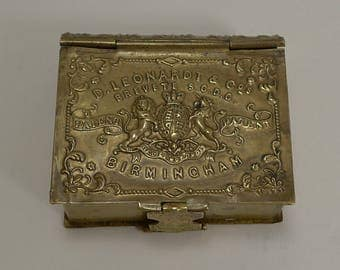 Victorian English Pen Nib Box by D. Leonardt & Co. - Form Of A Book