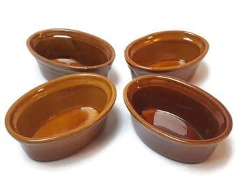 Terracotta terrines , pâté molds , terrines , pies , enamelled terra cotta , glazed terra cotta , Burgundy , saucepan , vintage kitchen, 80s