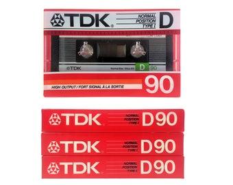 Lot of 3 TDK D 90 Blank Audio Cassette Japan New Sealed NOS 1986