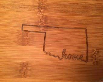 Large Etched Cutting Board