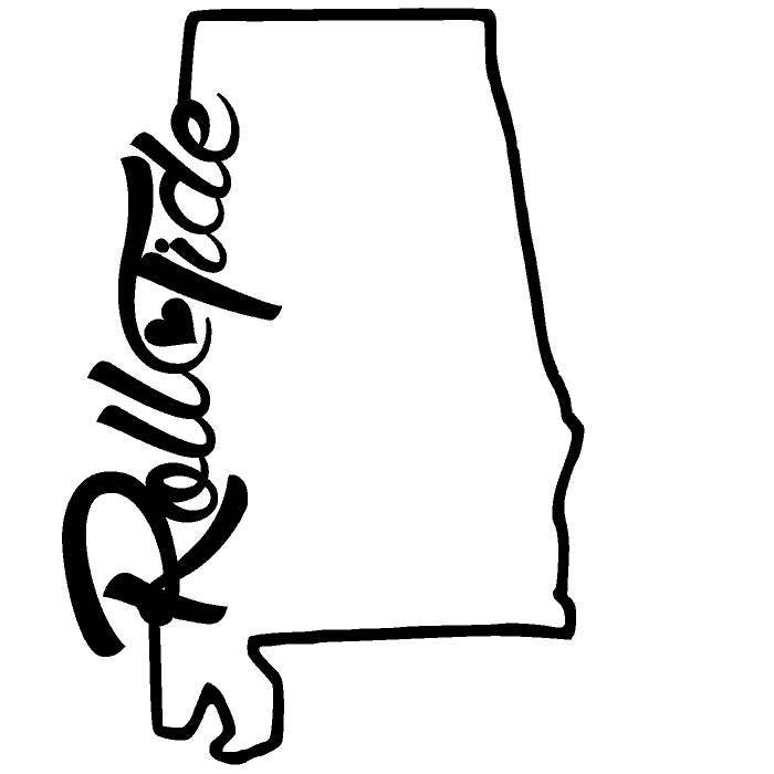 roll tide with heart state outline svg alabama roll tide roll university of alabama clip art images university of alabama clip art images