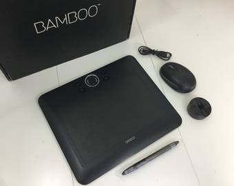 Wacom tablet Bamboo Fun black medium CTE650K for all kinds of crafters and graphics artist photo editing tool