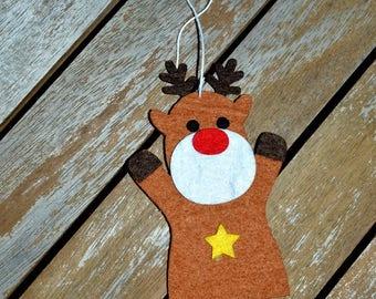 Star felt reindeer