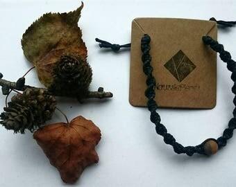 Macrame bracelet with Amazonite bead (Brown)