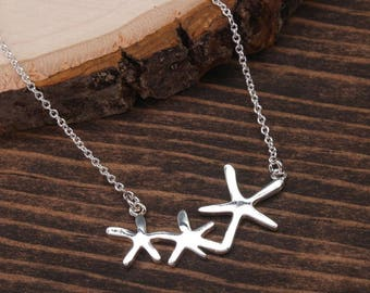 Silver Starfish Necklace, Sea Necklace, Ocean Necklace, Beach Necklace, Minimalist Necklace, Starfish Jewelry BN1011-S1