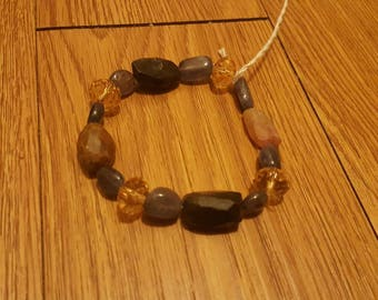 Tourmaline, citrine, amethyst  bracelet