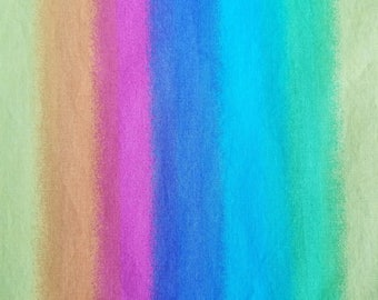 Rainbow Cotton Fabric, Sewing Fabric, Quilting Fabric, 1.5 yards-Ready to Ship