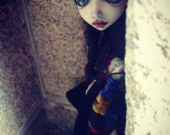 RESERVED OOAK BJD Doll Artdoll Art dolls  handmade