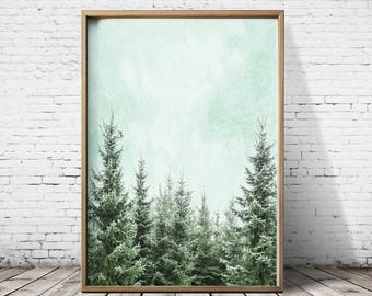 Forest Print Forest Wall Art Forest Art Tree Print Tree Wall Art