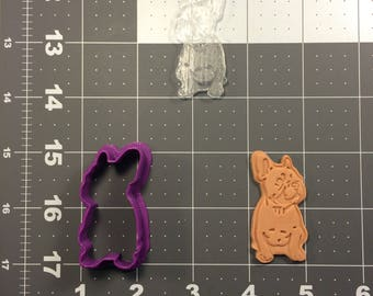 French Bulldog 100 Cookie Cutter and Stamp (Embossed)