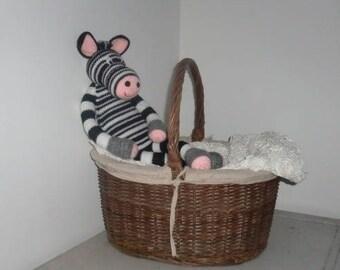 Wool Plush Alfred the Zebra