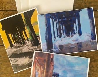 Huntington Beach Pier Notecard Set