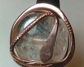 Quartz Copper ring