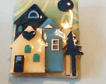 Vintage House Pin by Lucinda, House Pin by Lucinda, House Pin