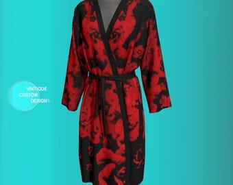 ROBE for Women PEIGNOIR Kimono Robe Womens Kimono Robe Long Kimono Womens Robes Luxury Robes Lingerie Robe Valentines Day Gift For Wife