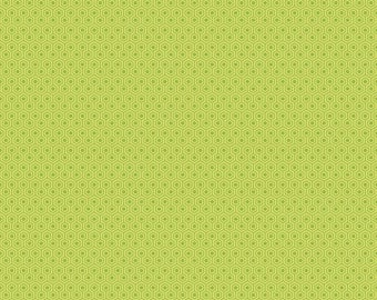 Glamperlicious - Green Geometric Fabric -  Samantha Walker - Riley Blake - Hexagon Fabric - Green Fabric - Woven Quilting Cotton - Lime