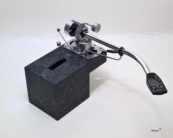Tone arm base made of mineral casting for PCB Verdier