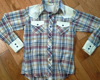 Vintage and PLAID Western Shirt