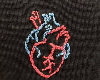Anatomical Heart Embroidery