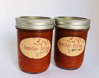 Ketchup 2 pack ~ Homestyle Ketchup, Made in Maine, Honey sweetened, salt restrictive diet friendly, Organic spices, Paleo Ketchup Paleo Diet