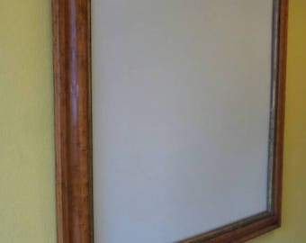 "Genuine antique 1  1/2 "" wide Ogee Birds Eye Maple Sampler frame with gold slip."