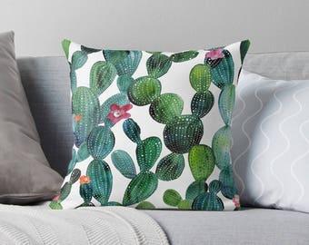 Cactus Pillow | Succulent Pillowcase | Succulent Pillow | Succulent Pillow Case | Succulent Throw Pillow | Succulent Pillow Cover