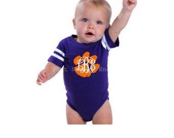 Clemson Infant Jersey - Personalized Baby Jersey - Baby Bodysuit - Baby Onesie® -  Baby Shower Gift - Clemson Baby - Clemson Baby Monogram