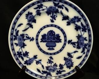"""A 19th century Minton """"delft"""" flow blue plate"""