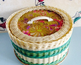 1960s, Homemade, Sewing/Craft Basket