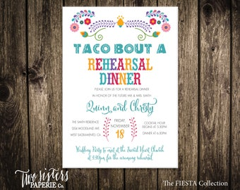 Taco Bout A FIESTA REHEARSAL DINNER Invitation - Fiesta Collection - Rehearsal Invitation - Rehearsal Dinner - Taco Rehearsal Fiesta