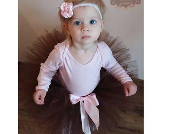 Tutu skirt, Brown tulle skirt, Brown tutu, Birthday girl outfit, Girl first birthday, Cake smash outfit, Girl 1st birthday outfit,