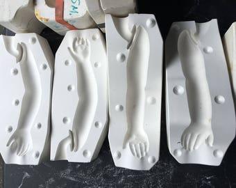 """28"""" Chyna Left Right Arm Porcelain Doll Ceramic Mold 728c Doll Artworks PT"""