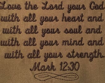 Love the Lord towel