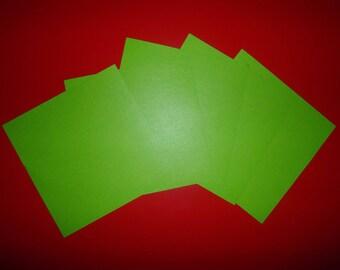 set of 5 Green origami paper Apple 15 x 15 cm