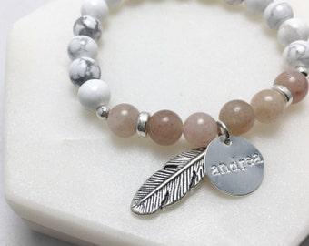 Personalised Handstamped Marble Bracelet