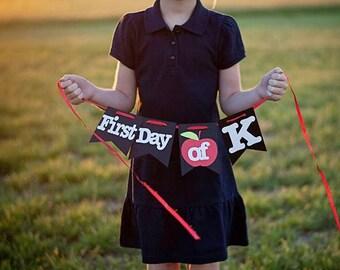 First & Last Day of School Banner, School Banner, First Day of School, Last Day of School, School, School Banner, Back to School
