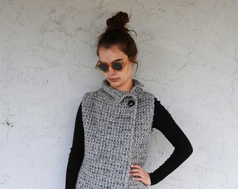 Crochet Pattern The Sherwood Vest. Pattern number 084. Instant Download