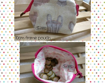 Frame Pouch 10cm - Cream Pink
