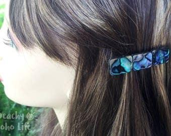 Abalone Hair Clips | Abalone Barrette | Alligator Clip | Paua Hair Accessorie | Bridal Hair Accessories | Wedding Barrette | French Barrette