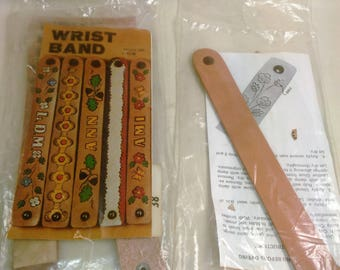 Lot Of 3 Leather Bands/Leatherworking Material/Tooling Or Punch/New With Dyeing Directions In Each Package (X)