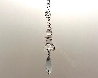 Glass Chess Suncatcher - Glass Ornament, Chess, Sun Catcher, Prism, Copper Wire