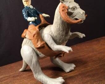 Vintage Star Wars 1982 Tauntaun & Han Solo Figures PRIORITY MAIL