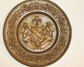 Brass French Coat of Arms Wall Plaque