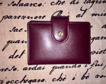 ETIENNE AIGNER VINTAGE Oxblood Leather Wallet