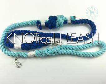 The Knot-ical Dog Leash, Dog Lead, Rope Lead, Cotton Rope Leash, Handmade Rope Leash, Christmas Gift, Dog Gift