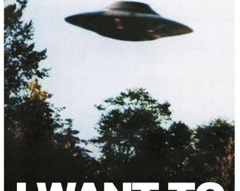 """Summer Sale THE X-FILES Tv Show Poster """"I Want to Believe"""" Mulders Office"""